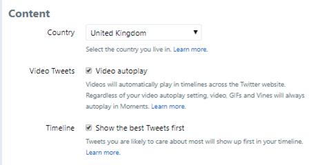 This update makes it easy to switch your Twitter timeline.